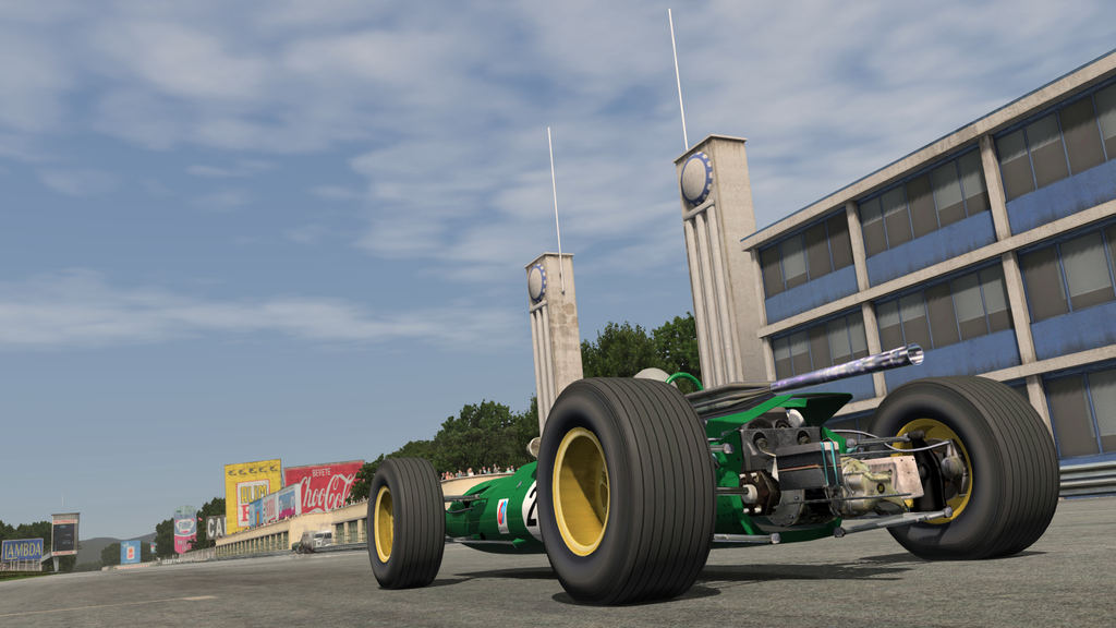 rFactor2 b107 - F2 at historic Monza 1966