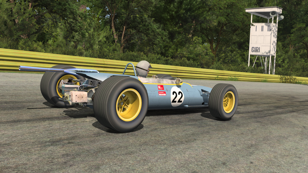rFactor2 F2`s at Monza b107